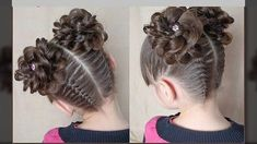 Hairstyles With Bangs - My list of womens hair styles Flower Girl Hairstyles, Braided Hairstyles Updo, Little Girl Hairstyles, Hairstyles With Bangs, Trendy Hairstyles, Straight Hairstyles, Childrens Hairstyles, Graduation Hairstyles, Homecoming Hairstyles