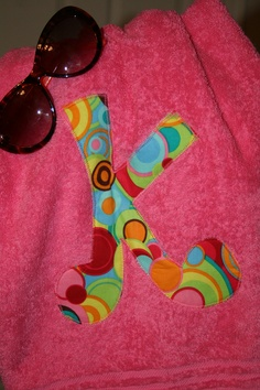 Initial Applique Towel by Suite401 on Etsy