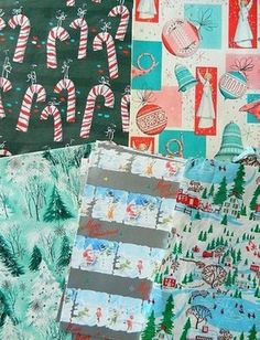 Variety of Sheets VINTAGE CHRISTMAS WRAPPING PAPER Lot (12/14/2012)