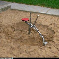 Sandbox digger machines
