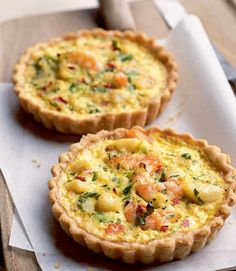 Make a few of these Seafood Tarts for a filling snack or a light dinner! This recipe will show you how to make them in less than 45 minutes!