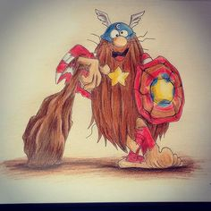 Capitão Caverna, 19.12.2015. #captaincaveman  #drawing #colorpencil
