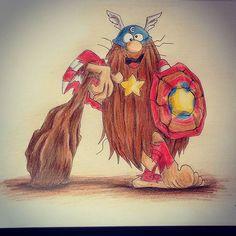 Capitão Caverna, 19.12.2015. #captaincaveman  #drawing #colorpencil