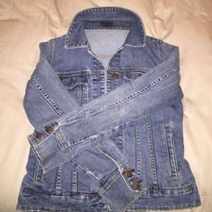 J Crew jean jacket - S Used but in great shape; thick material, could be perfect for winter; feel free to ask questions  trade BEST OFFERs are welcome!!! J. Crew Jackets & Coats Jean Jackets