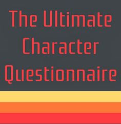Laura Mizvaria | Sir Writesalot: Ultimate Character Questionnaire