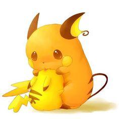PikaSad. Raichu, Pikachu (by ちゃっぴー/Kurobou, Pixiv Id 469252) ALRIGHT WHO MADE PIKACHU CRY????