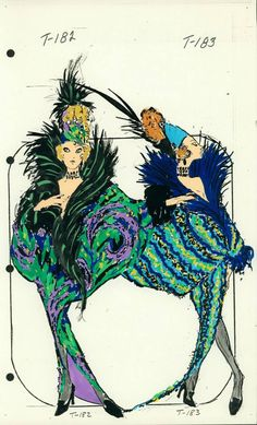 Female Singer Costume designed by Pete Menefee for Jubilee! Art Illustrations, Fashion Illustrations, Fashion Sketches, Illustration Art, Singer Costumes, Theatre Costumes, Showgirl Costume, Old Shows, Fashion Art