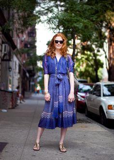 Jessica Joffe in a vintage Azzaro dress