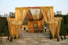 Destination Wedding Event Planning Ideas and Tips Wedding Walkway, Wedding Gate, Diy Wedding Backdrop, Wedding Entrance, Wedding Stage Decorations, Wedding Mandap, Entrance Decor, Garden Wedding, Outdoor Indian Wedding