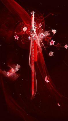 Vampire Mate's - chapter 13 part 1 - Katana Espada Anime, Arte Ninja, Cool Swords, Fantasy Sword, Sword Design, Anime Weapons, Weapon Concept Art, Dark Fantasy Art, Anime Outfits