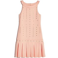 GUESS by Marciano Embellished Scuba-Knit Dress ($62) ❤ liked on Polyvore featuring dresses, peach, knit evening dresses, guess by marciano, evening dresses, embellished cocktail dress and cocktail dresses