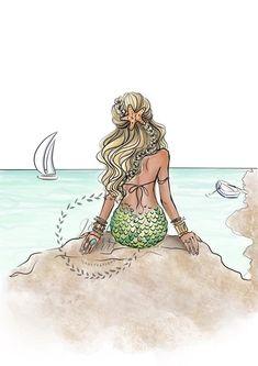 Mermaid Wall Decor, Mermaid Art, Vintage Mermaid, Bathroom Art, Mermaid Bathroom, Bathroom Beach, Mermaid Drawings, Mermaid Paintings, Mermaid Sketch
