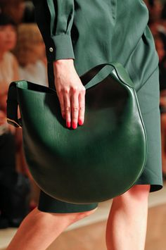 Celine summer 2012, runway detail, #green