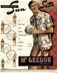 McGregor fashion vintage illustration advertisement for men's spring and summer clothing. #McGregor #Heritage #advertisement