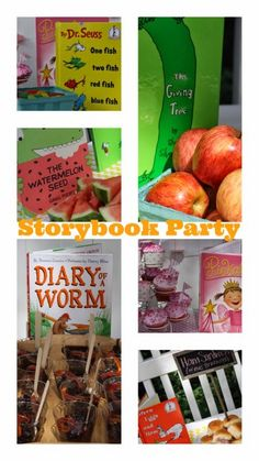 Alex's Storybook Birthday Party: Great ideas for a book themed birthday party, baby shower or school party