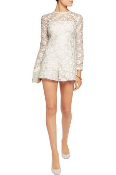 Shop on-sale Alexis Paulette corded lace playsuit. Browse other discount designer Jumpsuits & more on The Most Fashionable Fashion Outlet, THE OUTNET.COM