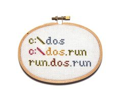 Remember dos? If you do, stitch this fun easy project.