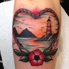 Andrea Giulimondi lighthouse tattoo