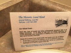 Information and interior view of room 206 at the Historic Lund Hotel, Lund, BC
