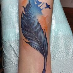 Feather tattoos are often underappreciated by men. While feather tattoos for women are usually associated with purity and beauty, feather tattoos for guys can represent one of the most powerful predators in the animal kingdom – the eagle. Because birds soar in the sky and swoop down to kill prey, the real meaning of the feather tattoo is freedom, strength, and achievement. Whether you're looking for an eagle feather, Native American feather, red, blue or black feather, or just a traditional…