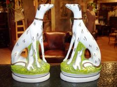 The French Quarters -- Exceptional French Antiques, Accessories and More at Affordable Prices Staffordshire Dog, English Pottery, English Country Style, Vintage Dog, Vintage Pottery, Whippet, Dog Art, Rabbits, French Antiques