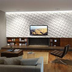3D панели ТВ стена с 3D панелями в гостиной в современном стиле...  #3Dпанели #гостиная #декоративныйкамин Ещё фото http://iqpic.ru/3d-%d0%bf%d0%b0%d0%bd%d0%b5%d0%bb%d0%b8
