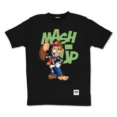 tee-shirt Mash-up by Otaku Gamewear #mario