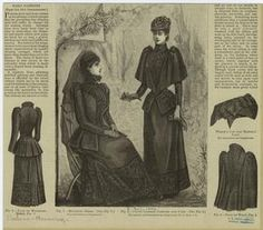 'Death Becomes Her: A Century of Mourning Attire' – meappropriatestyle Funeral Dress, Funeral Attire, 1890s Fashion, Victorian Fashion, Steampunk Fashion, Gothic Fashion, Paris Fashion, Vintage Fashion, Death Becomes Her
