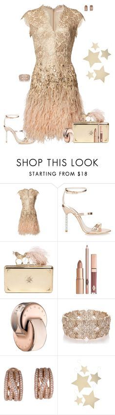 """Set 1544"" by lapshi4ka ❤ liked on Polyvore featuring Sophia Webster, Alexander McQueen, Bulgari, Oasis, Nigaam and Bethany Lowe"