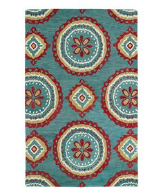 This Teal Wool Rug by Kaleen is perfect! #zulilyfinds
