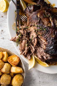 Greek Slow Roasted Leg of Lamb | RecipeTin Eats