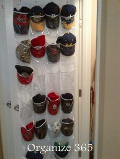 Baseball hat organizer on pinterest baseball cap rack for Hat storage ideas