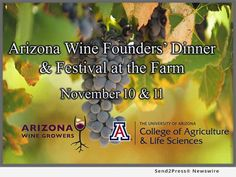 The Arizona Wine Growers Association today announced its 2017 lineup of vineyards for the Festival at the Farm, Saturday, November 11. The event will offer various wine tastings, displays and food from Arizona restaurants and retailers. Discussions will focus on how wine growers engage customers in their brands and enhance the shopping experience through innovation, technology and techniques for meeting evolving consumer preferences.