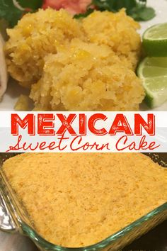 Mexican Corn Cakes, Mexican Food Recipes, Mexican Desserts, Mexican Corn Casserole, Sweet Corn Casserole, Sweet Corn Recipes, Mexican Sweet Breads, Mexican Bread, Cornbread Casserole