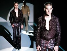 Tom Ford for Gucci Spring-Summer 2000 Mens Python Plum Flares 2