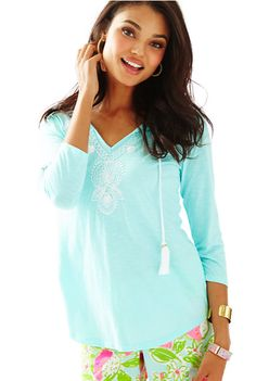 Lilly Pulitzer Pool Blue Holly Tunic #lillypulitzer