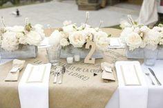 Rectangle table setting
