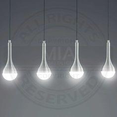 LED Pendel.DROPS, including 4x4,5W COB / 3000K / 4x350Lm, Alu Gebreite acrylic white, width 80cm - Hanging lamps - Indoor Lighting I Lampen & Leuchten online Kaufen I kostenloser Versand I Online-Shop MIALIGHT