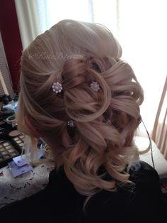Half up half down. Wedding hair