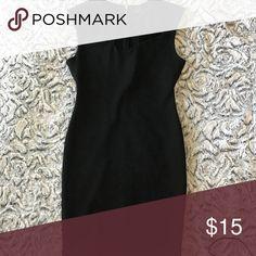 Black dress Tight black knee length dress with cut outs across front kim kardashian Dresses Midi