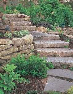 louis, natural stone steps, boulder retaining within natural stone landscaping Kinds of Landscaping With Natural Stone Landscaping On A Hill, Stone Landscaping, Landscaping Retaining Walls, Landscaping With Rocks, Landscaping Design, Mailbox Landscaping, Landscaping Plants, Outdoor Landscaping, Landscape Stairs