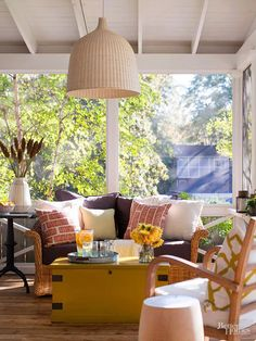 Create an inspiring and comfortable outdoor living space with these amazing decorating ideas. You can turn your patio, deck, or porch into a retreat that is just as comfortable as your indoor rooms. We'll even show you how to do so on a budget.