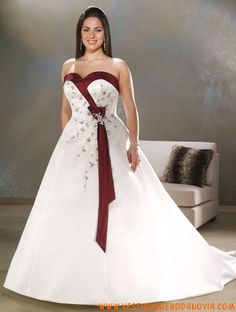 A-line Red Green White Wedding Dress Cap Sleeves Bridal Dress Gown ...