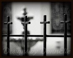 Wrought Iron Crosses Fine Art Set of 2 by DesignsByDonnElle