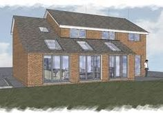 This is what I want for our house! - Before After DIY Garage Extension, House Extension Plans, Side Extension, Extension Ideas, House Front, My House, Wooden Lodges, Single Storey Extension, Double Storey House