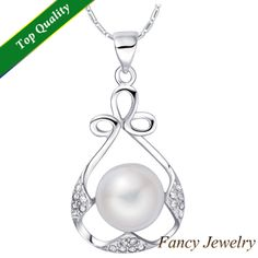 Silver Necklace,Simulated Plastic Pearl Necklaces&Pendants for Women Girls Accessories,Rhinestone Minnie Pendant,Pingente N1079 $6.92