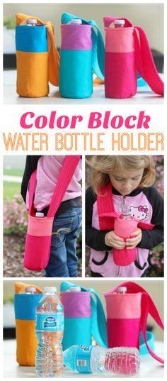Color Block Fabric Water Bottle Tutorial – Gluesticks