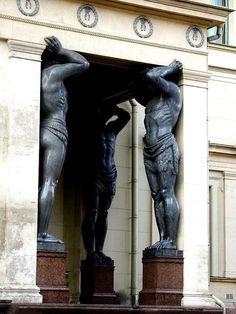 Atlantes. Hermitage Museum. St.Petersburg. Russia.
