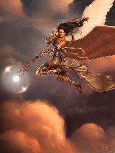 bruna, lights, angel, magic the gathering, fairi