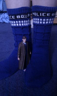 TARDIS Socks by Keladry B - free